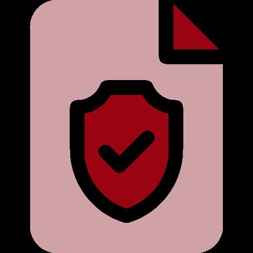 illustration icon of shield on file